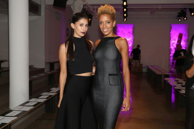 Designers Michelle Ochs and Carly Cushnie attend the Cushnie Et Ochs fashion show during Spring 2016 MADE Fashion Week at Milk Studios on September 11, 2015 in New York City. (Photo by Mireya Acierto/Getty Images)