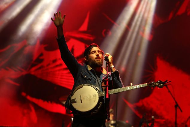 BOSTON, MA - SEPTEMBER 25: Scott Avett of the Avett Brothers performs onstage during day one of the Boston Calling Music Festival at Boston City Hall Plaza on September 25, 2015 in Boston, Massachusetts.