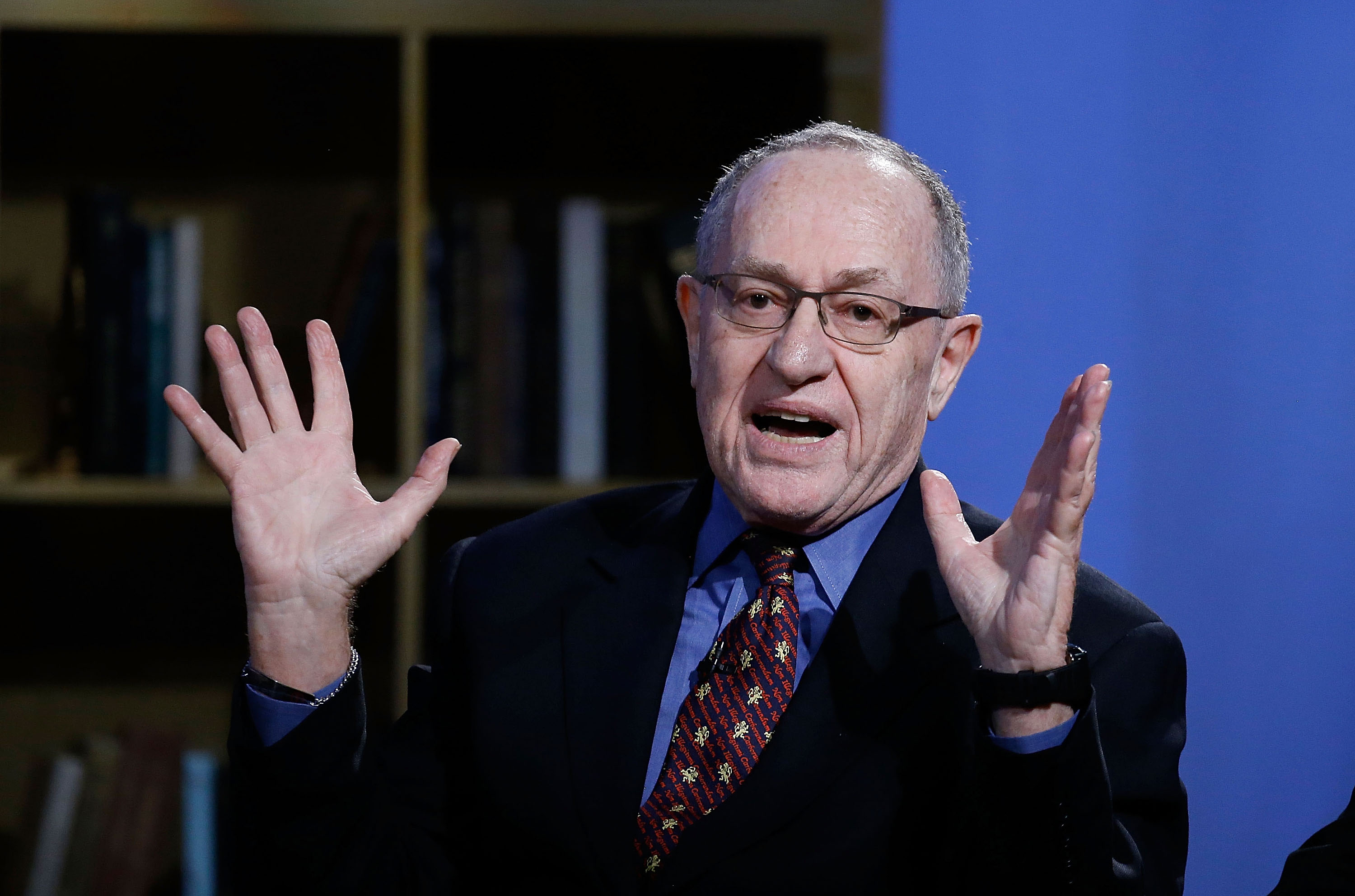 "Alan Dershowitz attends Hulu Presents ""Triumph's Election Special"" produced by Funny Or Die at NEP Studios on February 3, 2016 in New York City."