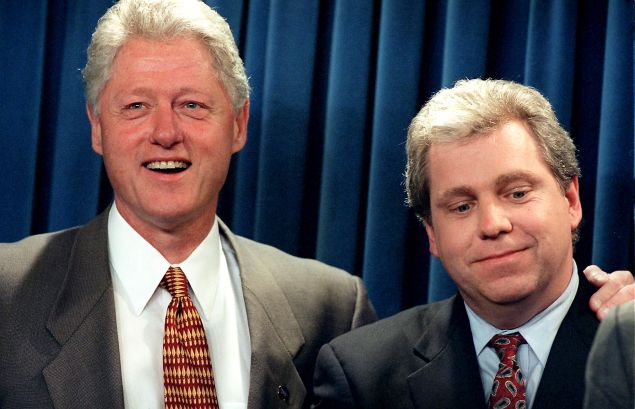And here's Lockhart with former President Bill Clinton.