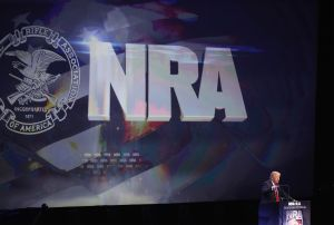 Donald Trump at the NRA Convention.