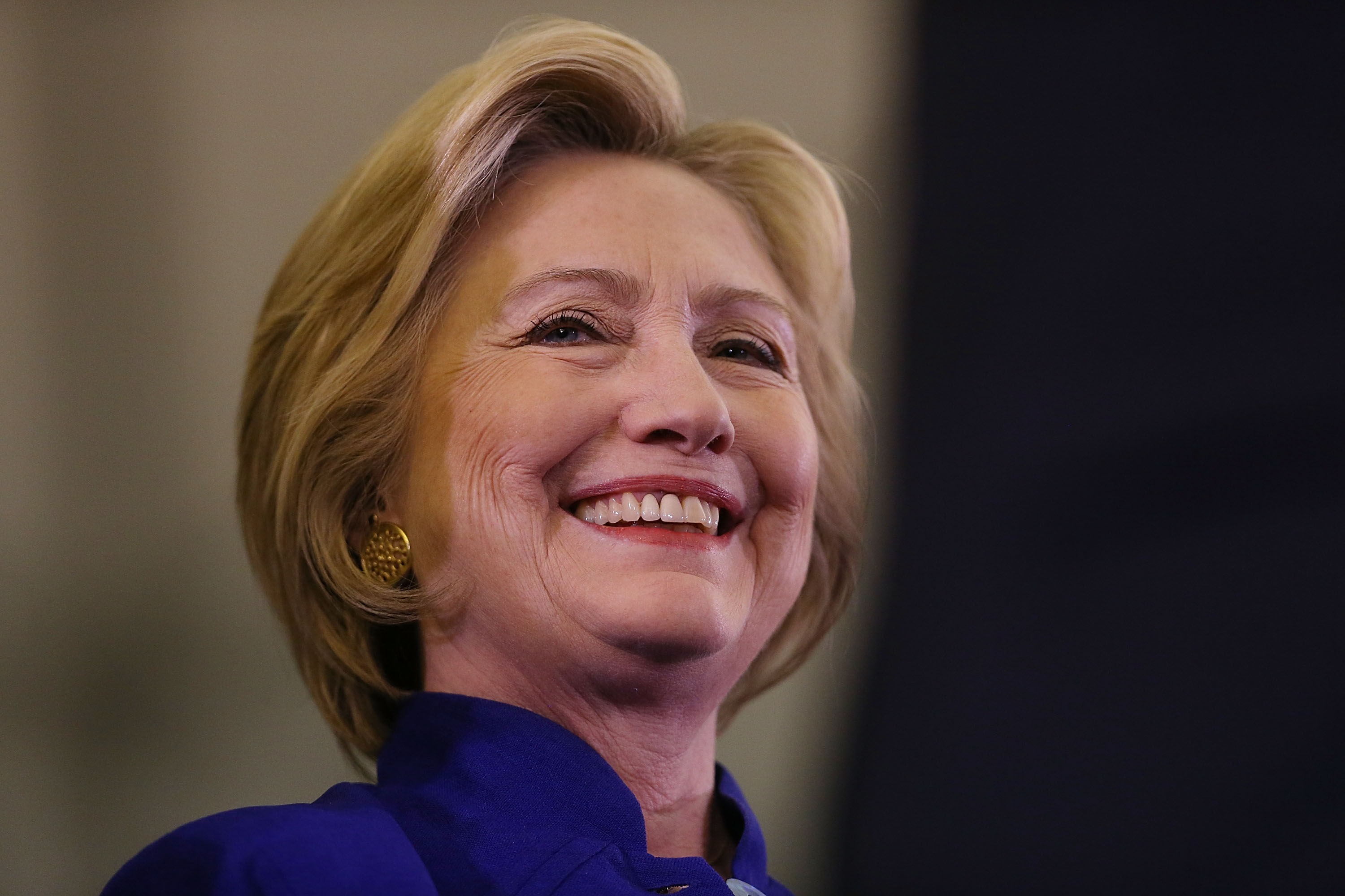 Democratic presidential candidate Hillary Clinton attends a rally on June 1, 2016 in Newark, New Jersey. Clinton will head back to California tomorrow where she is in a tight race with Democratic challenger Sen. Bernie Sanders (D-VT).
