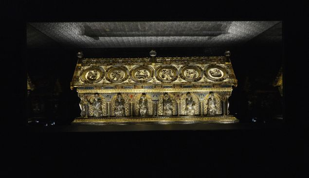 The Saint Maurus reliquary at the Becov castle in Becov nad Teplou village, Western Bohemia.