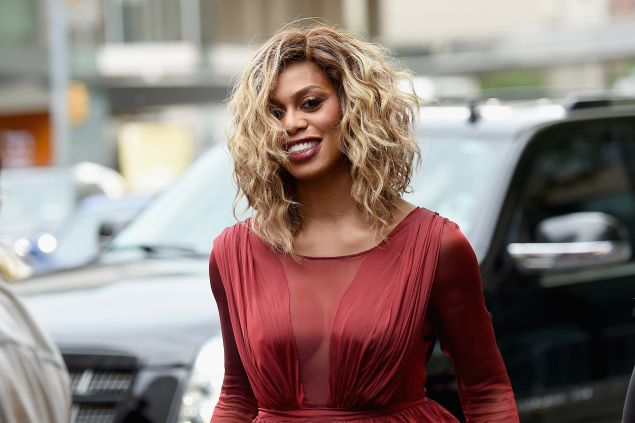 Laverne Cox does the curl