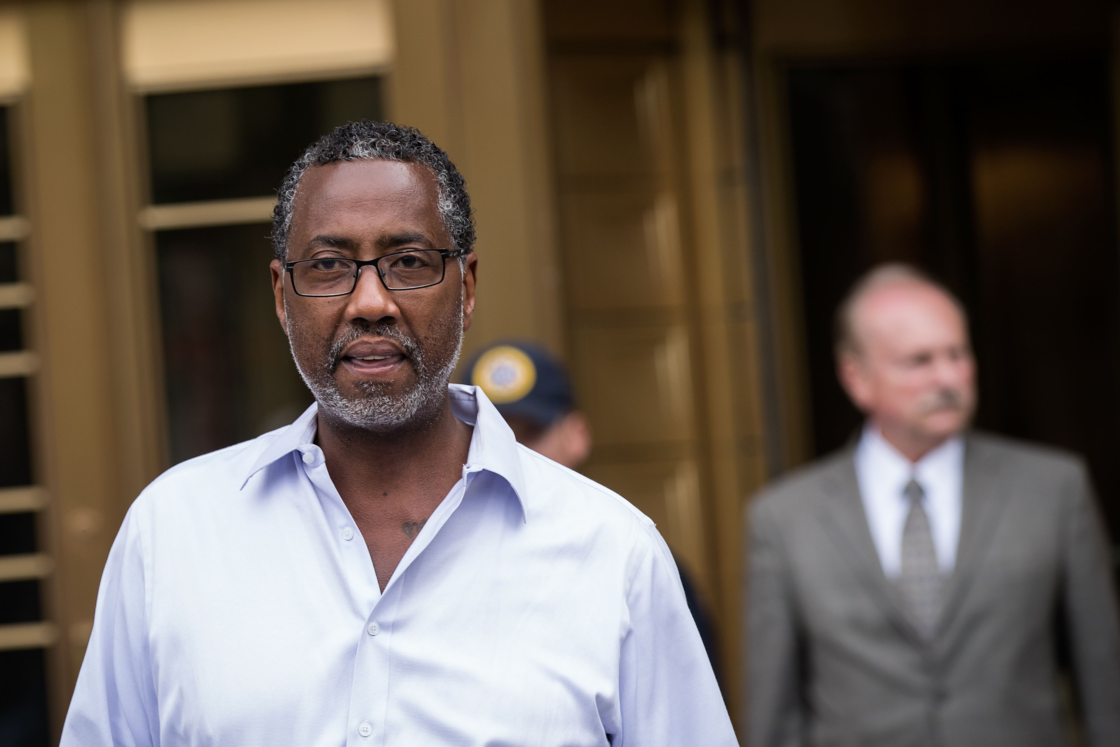 After being arrested on federal corruption charges, Norman Seabrook, president of the Correction Officers Benevolent Association, exits United States District Court for the Southern District on June 8.