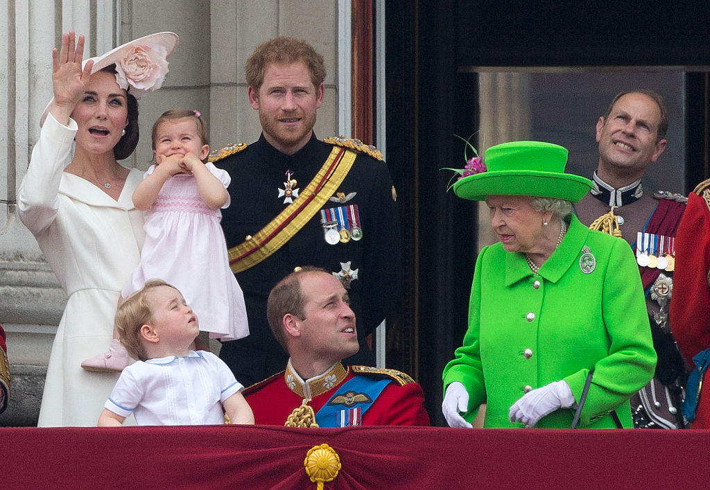 The Queen giving Prince William a serious talking to.