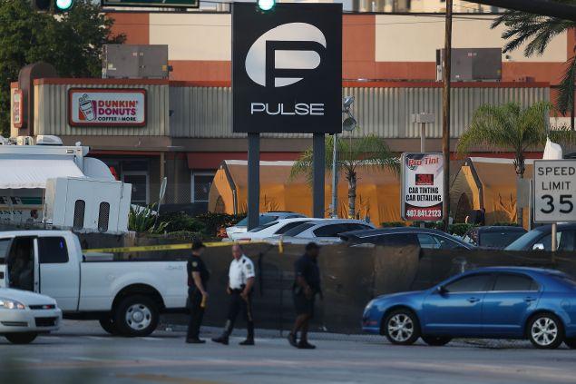 The Pulse nightclub in Orlando, Florida. following a mass shooting on Sunday.