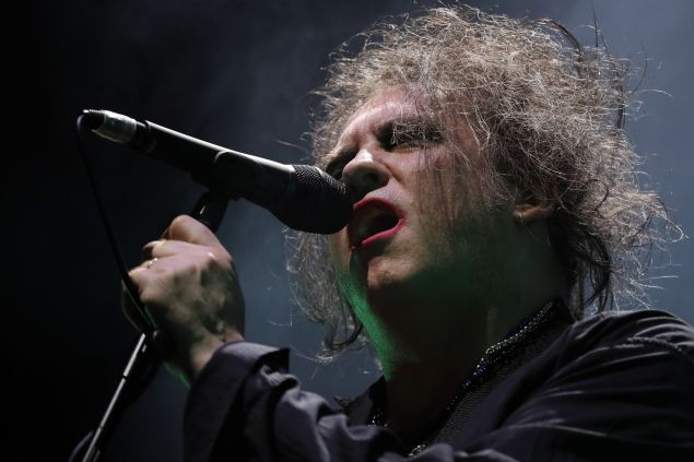 Robert Smith of The Cure performs on stage at Madison Square Garden.