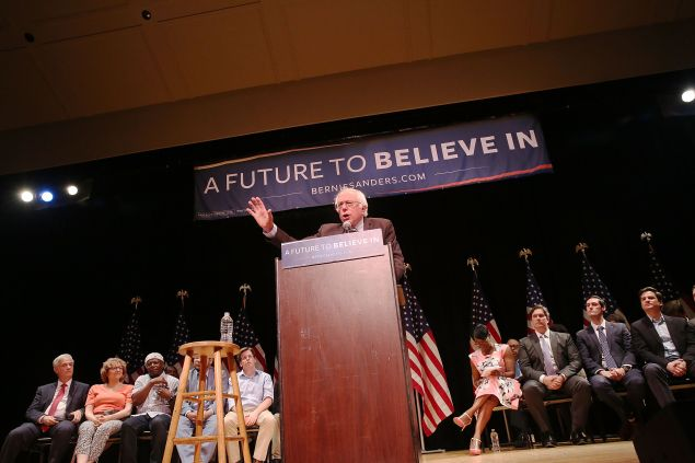 Sen. Bernie Sanders tonight.