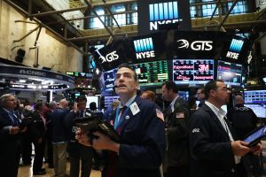 Traders in the NYSE post-Brexit, when the Dow Jones Industrial average fell nearly 500 points.