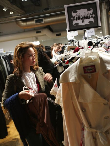 Shoppers search for a designer prize amongst the racks