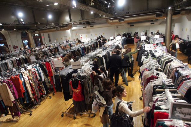Guests shop at the Billion Dollar Babes Sample Sale