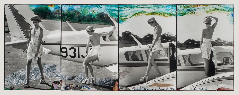 Peter Beard, Bianca Jagger at Montauk International Airport, 1972.