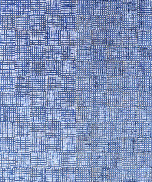 McArthur Binion, dna: white painting: test for seasons: VII, 2016.