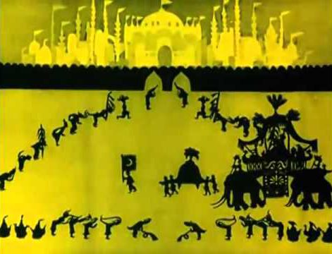 The Adventures of Prince Achmed (1926) by Lotte Reiniger.