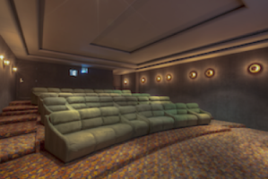 Estrella has its own screening room.