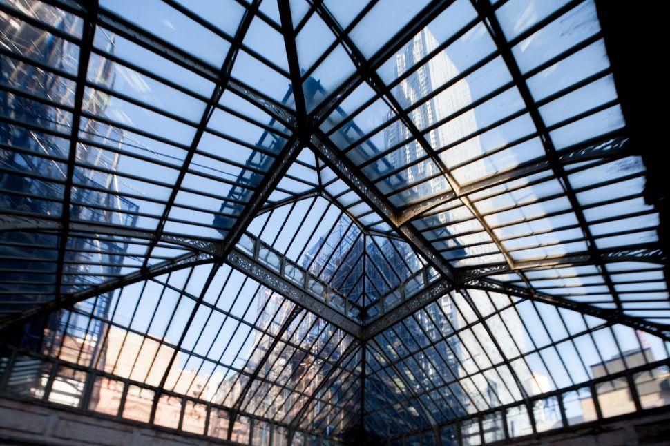 The Beekman Hotel's pyramidal skylight