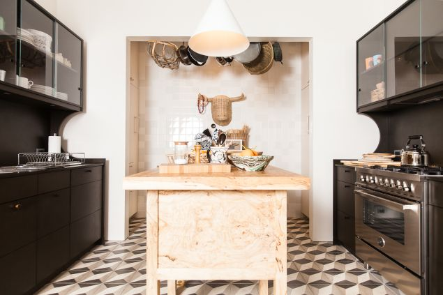 The kitchen island, which is a hub for entertaining