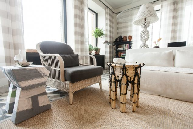 Migguel Anggelo's matchstick table in the living room