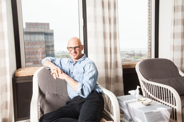 David Stark in his Brooklyn Heights home