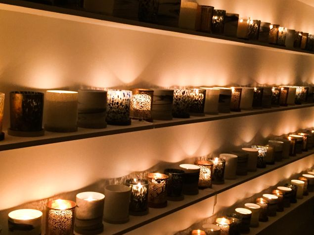 The event's wall of 240 diptyque candles