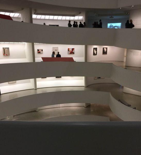 The Guggenheim at night.