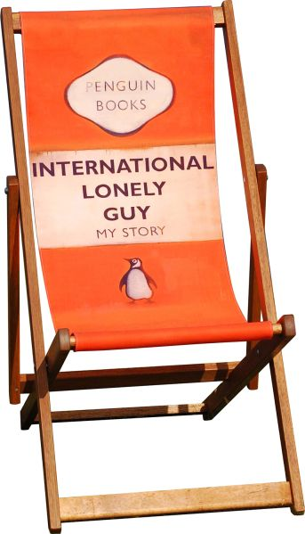 Harland Miller deck chairs PHOTO courtesy Other Criteria