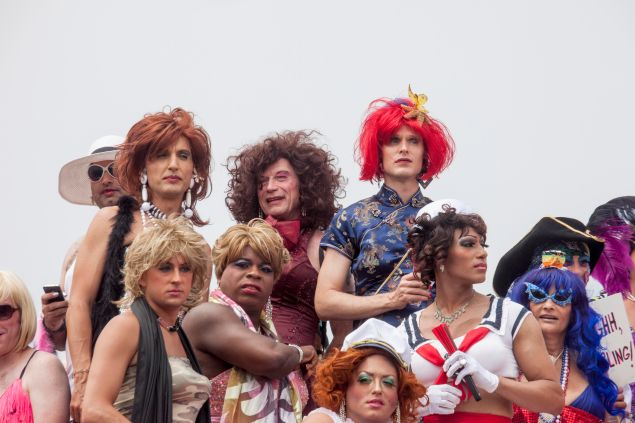 Drag queens prepare for the annual Invasion of the Pines PHOTO: Susan Kravitz
