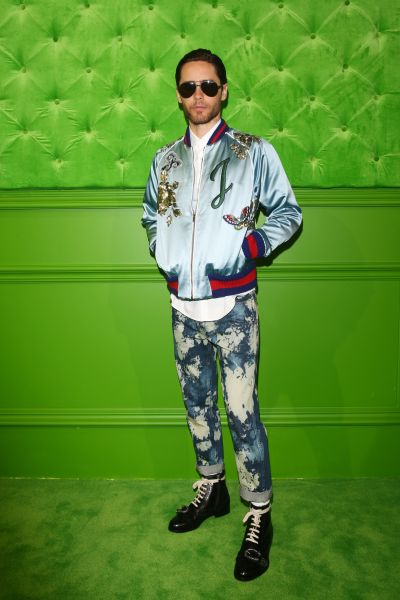 Jared Leto in his custom Gucci jacket