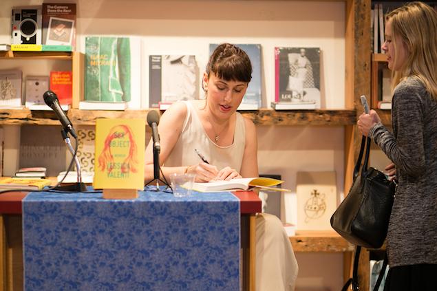 Jessica Valenti, at a reading.