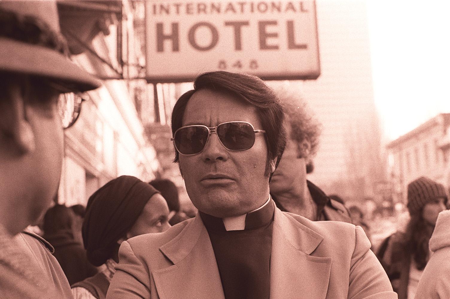 Reverend Jim Jones, 1977.