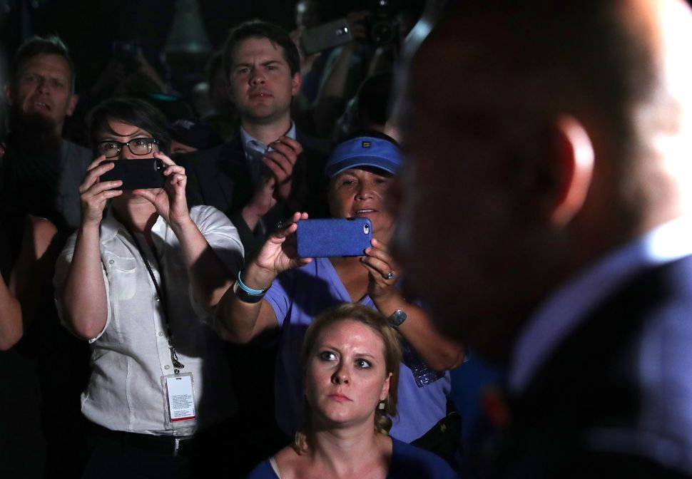 """WASHINGTON, DC - JUNE 22: U.S. Rep. John Lewis (D-GA) speaks to gun control activists who gather outside the Capitol after House Republicans have forced votes as House Democrats stages a sit-in on the House floor June 22, 2016 on Capitol Hill in Washington, DC. House Democrats are staging a sit-in on the House floor to demand Speaker Rep. Paul Ryan (R-WI) not to recess the House without voting on legislation including the bipartisan """"No Fly, No Buy"""" legislation and a universal background check bill."""