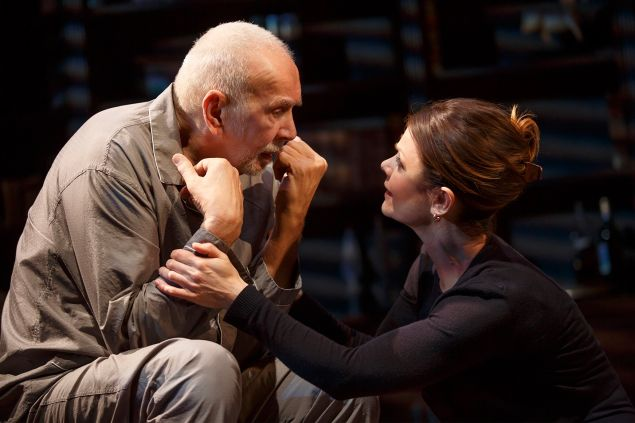 Frank Langella and Katheryn Erbe in The Father at Manhattan Theatre Club.