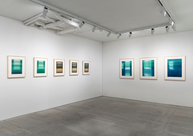 "Installation view of the Lauretta Vinciarelli exhibition ""Light Unveiled"" at Totah gallery."