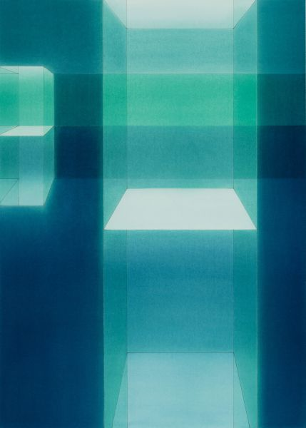 Lauretta Vinciarelli, Suspended in Blue Study, 2002.