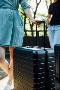 Away offers three different sizes of baggage all under ten pounds.