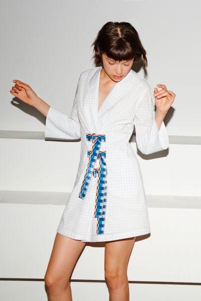 Nonoo's signature white dress, for the Spring 2016 season