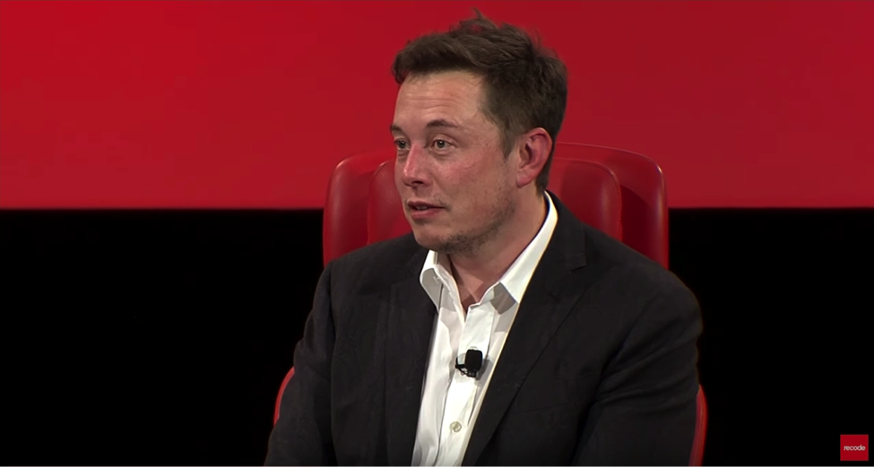 Elon Musk speaks at the third annual Recode Code Conference.