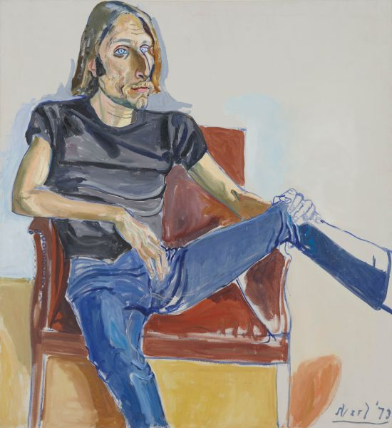 Alice Neel (1900 - 1984) DAVID SOKOLA,1973 Oil on canvas.