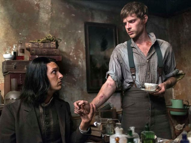 Shazad Latif as Dr. Jekyll and Harry Treadaway as Dr. Victor Frankenstein.