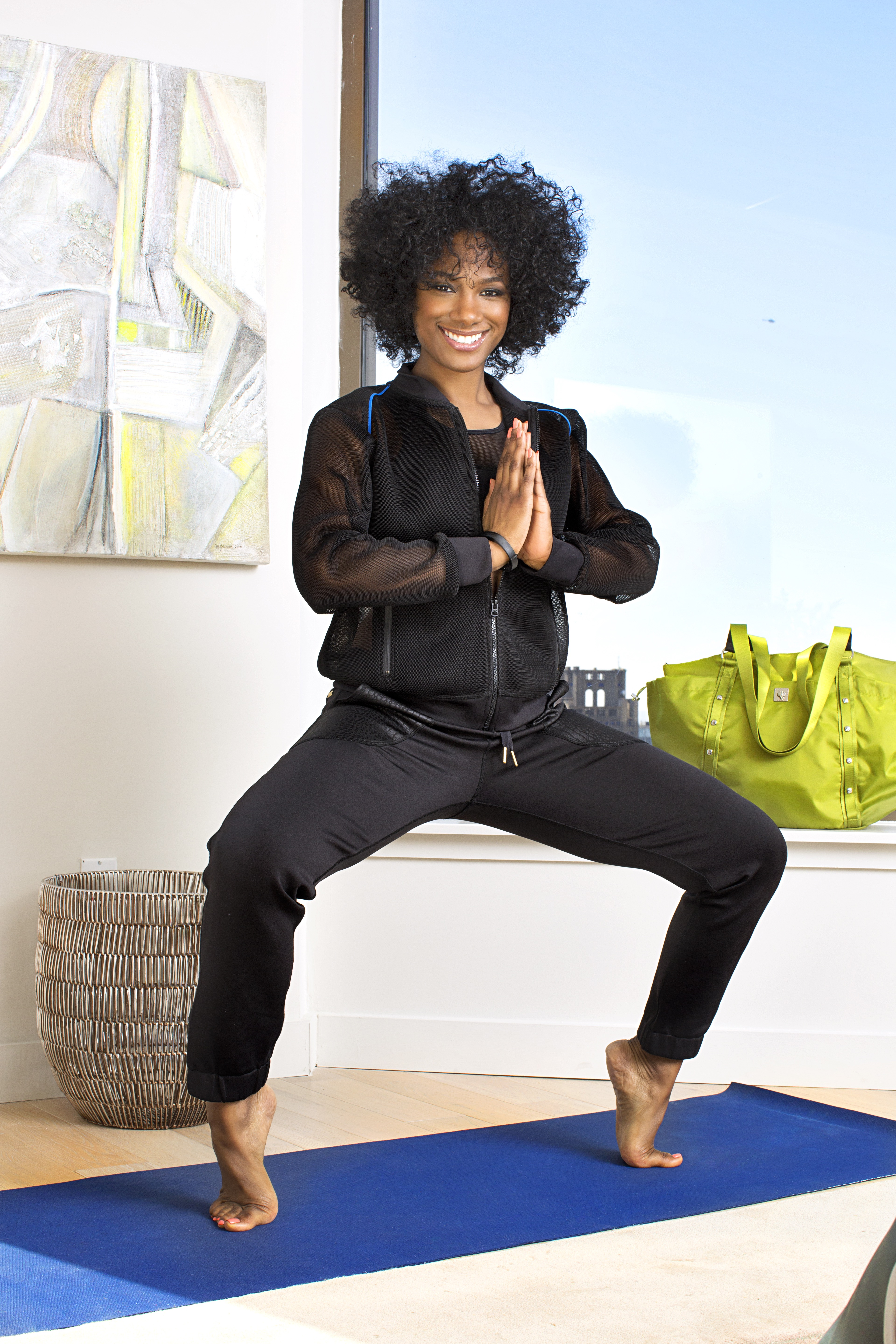 Vicky Jeudy wears Bandier and Nike when she runs--although she prefers men's sweatpants.