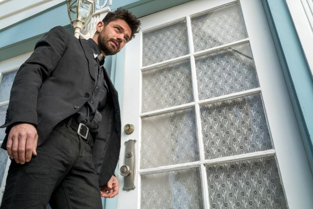 Dominic Cooper as Jesse Custer in AMC's Preacher.