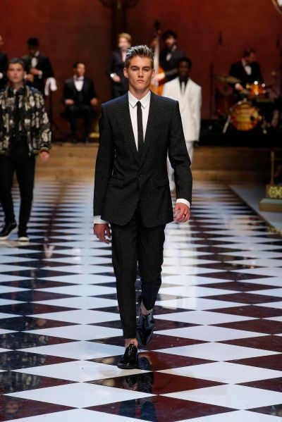 Presley Gerber on the Dolce & Gabbana runway