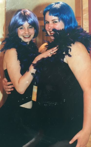 The author and her friend Megan on the night of Prince's 42nd birthday party.