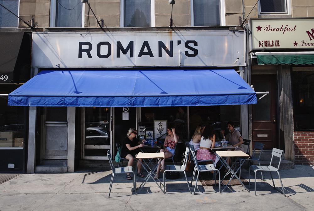 Roman's - exterior Pizza, restaurant, Brooklyn photo: celeste sloman / ny observer