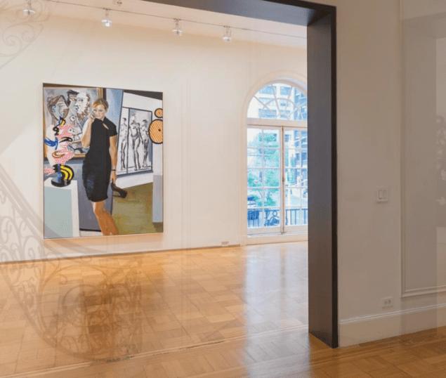 """Installation view of Eric Fischl's exhibition """"Rift Raft."""""""