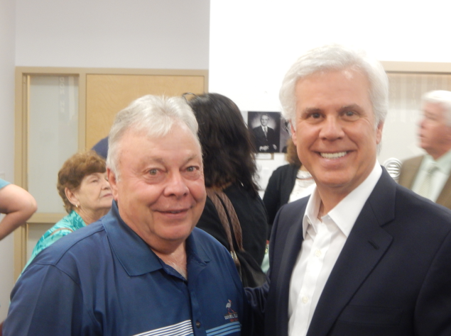 Senator James Beach with George Norcross, right.