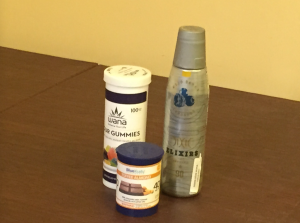 Edible THC products from Colorado (the containers, Scutari noted, were empty)