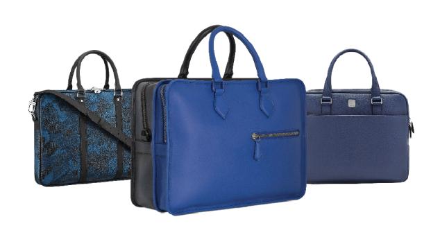 From left: Louis Vuitton; Berluti; MCM.