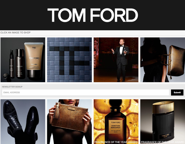 Tom Ford's take on Instagram